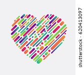 colorful shape of a heart ... | Shutterstock .eps vector #620413097