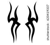 tribal tattoo art designs.... | Shutterstock .eps vector #620419337