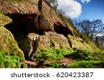 ancient caves and dwellings set ... | Shutterstock . vector #620423387