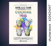 cocktail party flyer.... | Shutterstock .eps vector #620424347