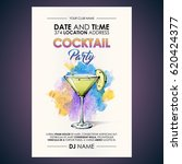 cocktail party flyer.... | Shutterstock .eps vector #620424377