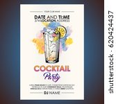 cocktail party flyer.... | Shutterstock .eps vector #620424437