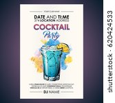 cocktail party flyer.... | Shutterstock .eps vector #620424533