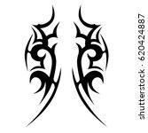 tattoo tribal vector designs.... | Shutterstock .eps vector #620424887