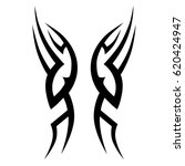 tattoo sketch tribal vector... | Shutterstock .eps vector #620424947
