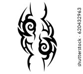 tattoo sketch tribal vector... | Shutterstock .eps vector #620432963