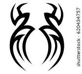 tattoo sketch tribal vector... | Shutterstock .eps vector #620434757