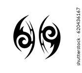 tribal tattoo art designs.... | Shutterstock .eps vector #620436167