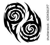tribal tattoo art designs.... | Shutterstock .eps vector #620436197