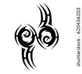 tribal tattoo art designs.... | Shutterstock .eps vector #620436203