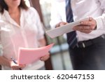 manager working with executive... | Shutterstock . vector #620447153