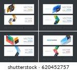 vector set of modern horizontal ... | Shutterstock .eps vector #620452757
