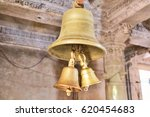 Giant Brass Bell In A Hindu...