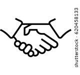 partnership vector icon | Shutterstock .eps vector #620458133
