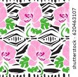 seamless floral pattern. ... | Shutterstock .eps vector #620463107