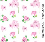 seamless floral pattern.orchids ... | Shutterstock .eps vector #620465483