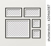 blank picture frame template... | Shutterstock .eps vector #620466587