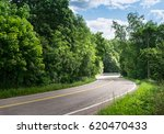 Landscape With Curvy Road At...