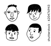 hand drawn people | Shutterstock .eps vector #620476943