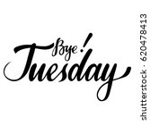 weekdays card with phrase bye... | Shutterstock .eps vector #620478413