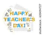 teachers day holidays card... | Shutterstock .eps vector #620494727