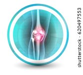 knee joint health care icon ... | Shutterstock .eps vector #620497553