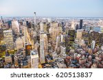 new york city skyscrapers at... | Shutterstock . vector #620513837