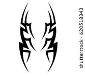 tattoo sketch tribal vector... | Shutterstock .eps vector #620518343