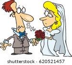 cartoon groom having an allergy ... | Shutterstock .eps vector #620521457