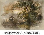 watercolour painting of... | Shutterstock . vector #620521583