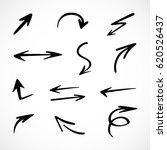hand drawn arrows  vector set   Shutterstock .eps vector #620526437