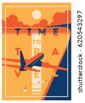 time to travel and summer... | Shutterstock .eps vector #620543297