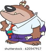 cartoon boss bear | Shutterstock .eps vector #620547917