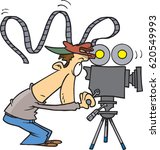 cartoon cameraman | Shutterstock .eps vector #620549993