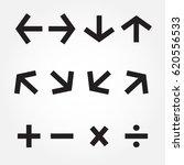 arrow icon set.illustration v.10