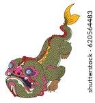 hand drawn monster of buddhism...   Shutterstock .eps vector #620564483