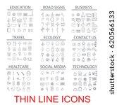 vector illustration of thin... | Shutterstock .eps vector #620566133