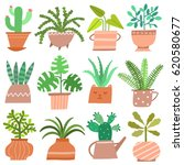 house plant isolated  icon set... | Shutterstock .eps vector #620580677
