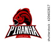 furious piranha sport vector... | Shutterstock .eps vector #620602817