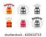 gift box  surprise set of icons.... | Shutterstock .eps vector #620613713