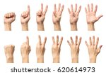 male hands counting from zero... | Shutterstock . vector #620614973