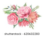 hand painted watercolor... | Shutterstock . vector #620632283