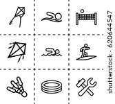 activity icon. set of 9... | Shutterstock .eps vector #620644547