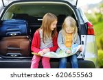 two adorable little girls ready ... | Shutterstock . vector #620655563