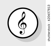 music violin clef sign. g clef. ... | Shutterstock .eps vector #620657813