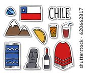doodle icons. chile. chilean... | Shutterstock .eps vector #620662817