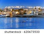 coastline of kato galatas town...   Shutterstock . vector #620673533