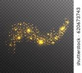 gold glitter sparkles wave...   Shutterstock .eps vector #620673743