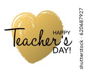 teachers day holidays card... | Shutterstock .eps vector #620687927