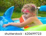 little girl  kid  swimming in... | Shutterstock . vector #620699723